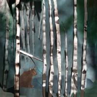 Konsttryck collage, Skogen