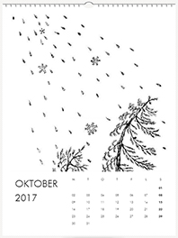 oktober väggkalender 2017